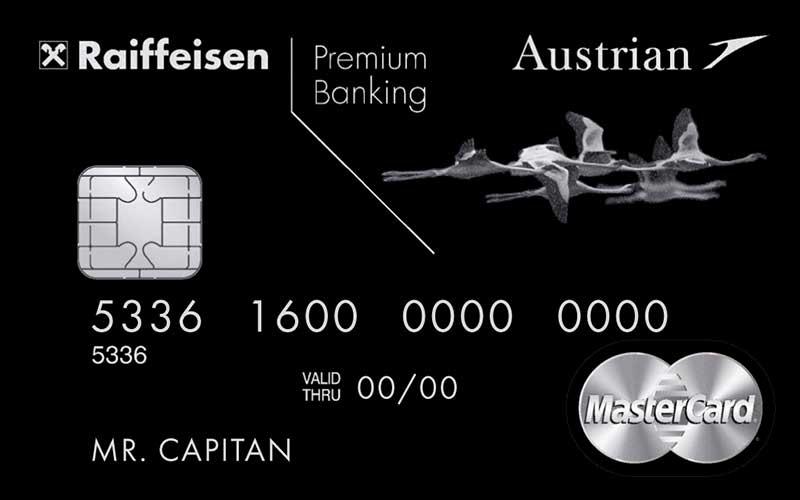 Кредитная карта Кредитная карта Austrian Airlines Black Edition
